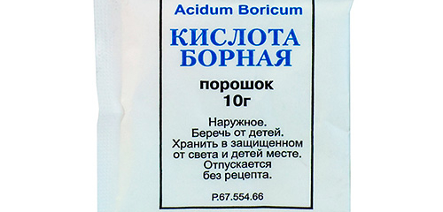 Use of boric acid against cockroaches