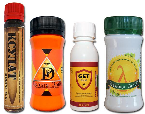 Παραδείγματα σύγχρονων φαρμάκων για κροκιδωτά - Xsulat Micro, Get, Delta Zone, Lambda Zone.