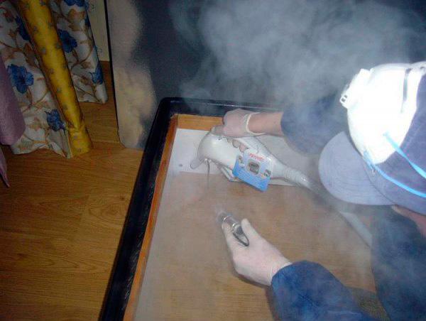 Μπορείτε να απαλλαγείτε από τα ξύλινα σπίτια στα έπιπλα με τη βοήθεια θερμού ατμού από ατμόπλοιο ...