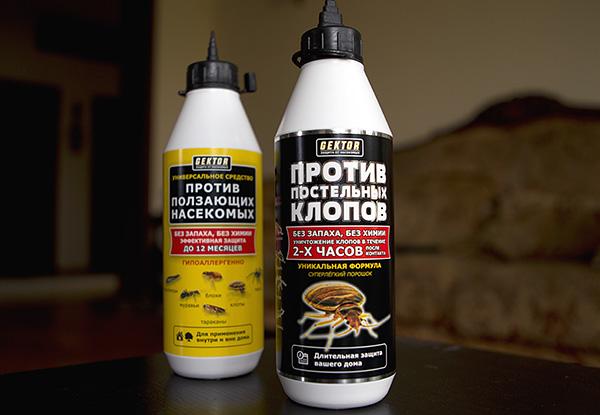 O serie de repellenți de insecte sub formă de pulbere, Hector