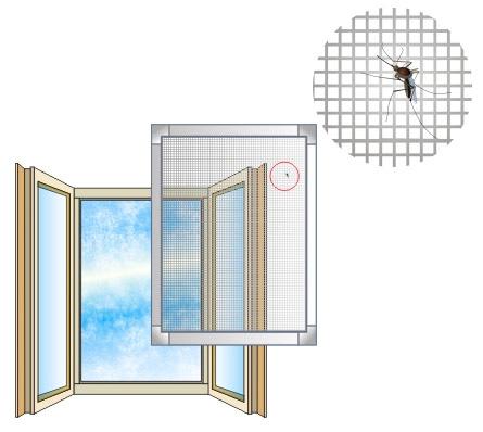 곤충이 아파트에 들어오는 것을 막기 위해 모기장 사용
