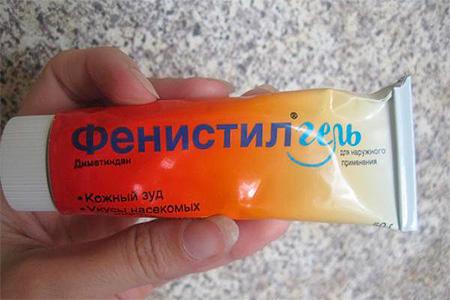 Fenistil gel from insect bites