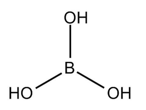 حمض البوريك: الصيغة الكيميائية (H3BO3)