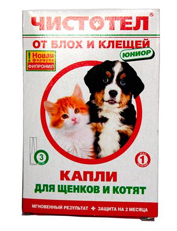 قطرات من البراغيث للكلاب والقطط Chistotel