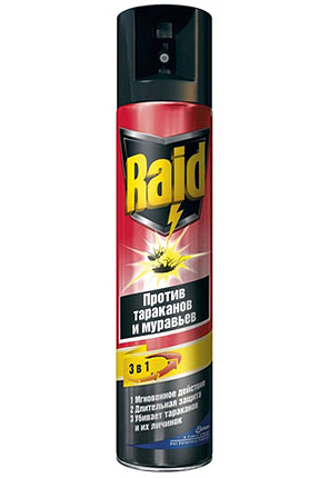 Raid insect repellent spray