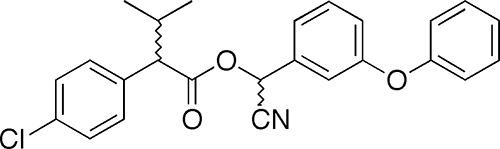 In de samenstelling van het poeder fenaxine - pyrethroid fenvaleraat