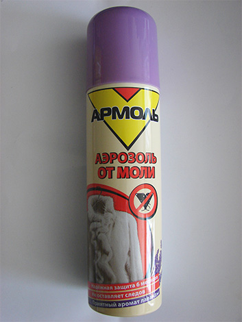 بعد رش الخزان بأيروسول الأرمول ، يمكنك التأكد من أن معطف الفرو الثمين فيه آمن