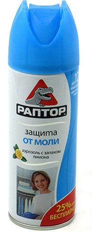 الأيروسول Rapttor فعال ليس فقط ضد الفراشات العثة ، ولكن أيضا ضد يرقاتها