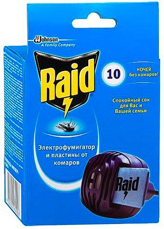 Raid fumigator (on plates)