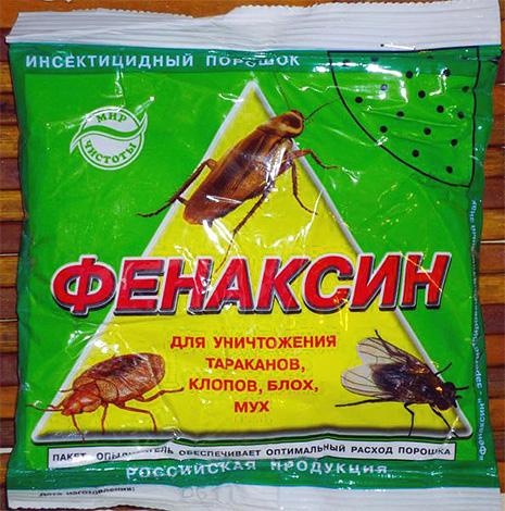 In de samenstelling van het stof is fenaxine een vrij laag-toxisch insecticide fenvaleraat
