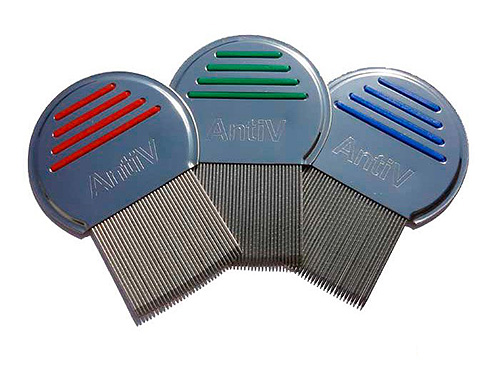 Combs for combing lice and nits AntiV