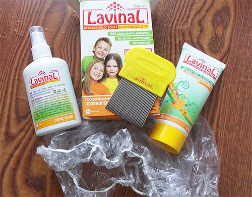 The composition of the spray lice lavinal contains natural ingredients