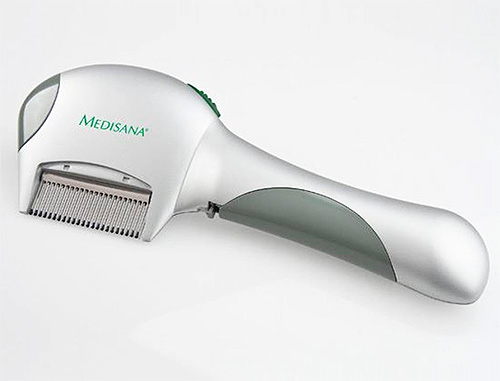 Electric combs not only mechanically remove insects from the hair, but also kill them by electrical discharge.