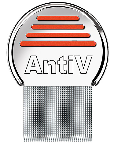 AntiV comb - a very effective tool for removing lice and nits from hair