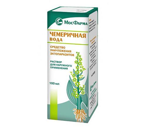 Chemerichnaya น้ำ - ไม่น้อยกว่าน้ำส้มสายชู, ยาสำหรับเหา