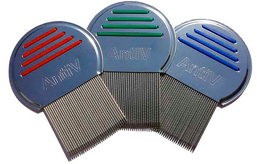 AntiV comb for combing lice and nits