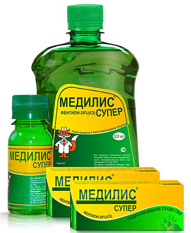 ส่วนของแมงลิงมีอยู่ในส่วนประกอบของ Medilis Super lice
