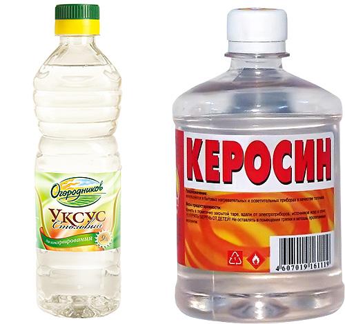ผลิตภัณฑ์ Lice - น้ำมันก๊าดและน้ำส้มสายชู - ซึ่งเป็นที่นิยมในหมู่ยายควรใช้อย่างระมัดระวัง