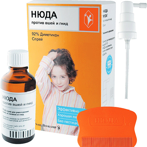 Spray Nydu can be used even for removing lice in children