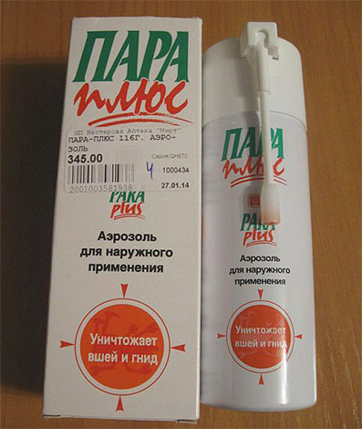 ParaPlus Spray - kills lice and nits