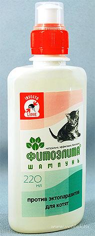 Yavru kedi için pire gelen şampuan Phytoelitis