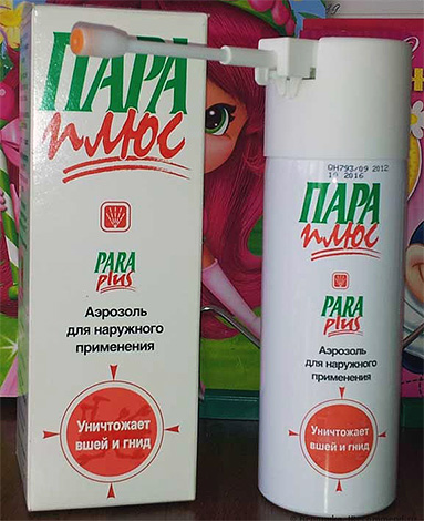 Another drug for removing lice at home - an aerosol product Pair Plus