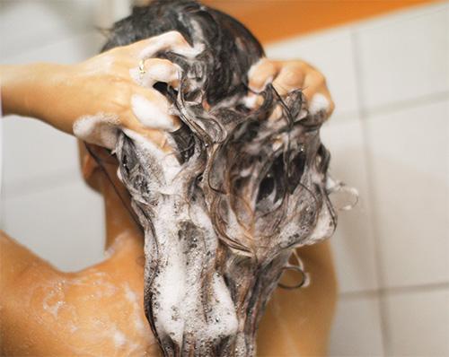 살생 성 샴푸는 젖은 머리카락에 적용해야합니다.