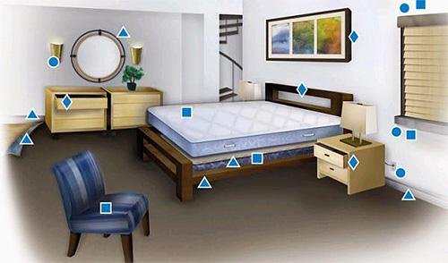 تظهر الصورة الموطن المفضل للبق في الشقة.