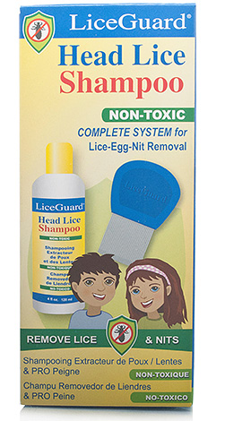 To loosen the nits to the hair, use LiceGuard shampoo