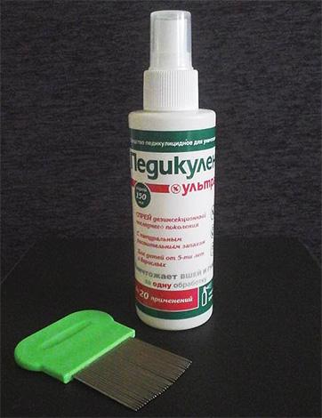 Preparation for removing lice Pediculen Ultra