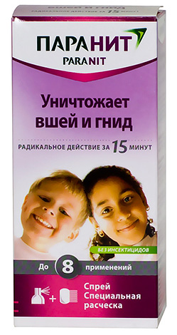 Shampoo for lice and nits Paranit is completely safe for children.