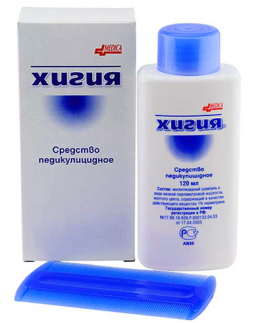Hygia Shampoo is effective against lice and nits.