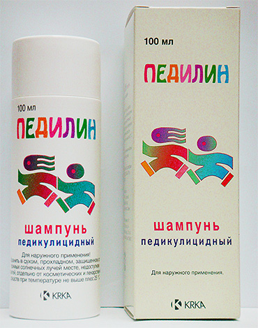 Thanks to malathion in the composition, Pedilin shampoo is quite a powerful tool that destroys lice and nits