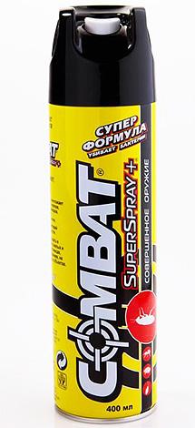 يمكن أن يكون الهباء الجوي Superspray Kombat أيضا فعالة في مكافحة البق إذا لم يكن هناك الكثير منهم في الشقة.