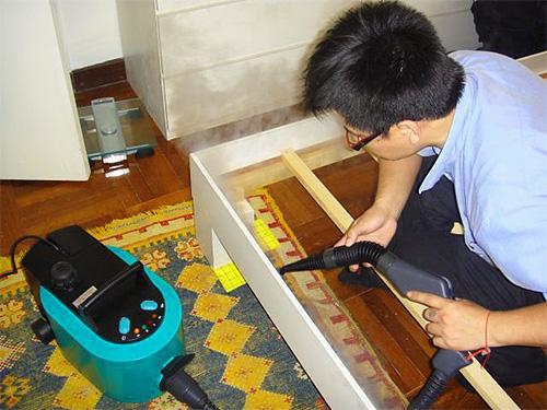 يسمح لك مولد البخار بتدمير أعشاش الطفيليات على أسطح قابلة للوصول نسبيًا فقط.