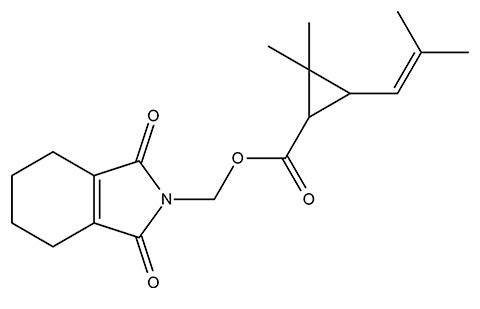 테트라 메스 린의 화학 구조식