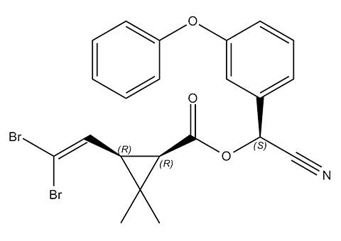 Εντομοκτόνο δελταμεθρίνη, χημική δομή