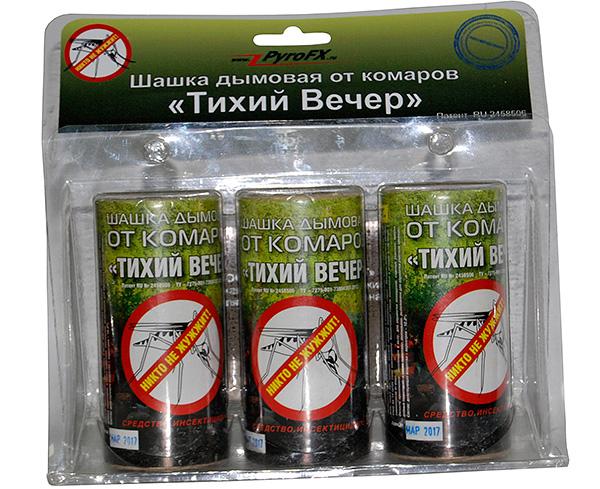Σε γενικές γραμμές, τα πούλια Silent Evening τοποθετούνται ως φάρμακο για τα κουνούπια, τα οποία όμως δεν εμποδίζουν την αποτελεσματικότητά τους έναντι άλλων εντόμων.
