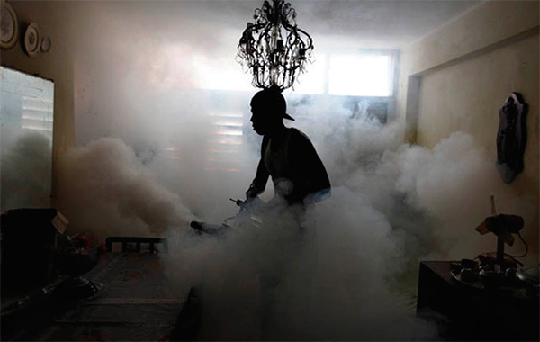 When processing the premises with hot mist, a very fine insecticidal aerosol is also created.