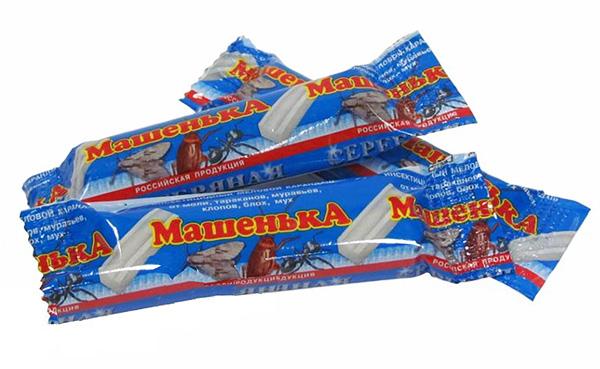 الطباشير من الصراصير باعت Masha جدا بنشاط اليوم ، على الرغم من وجود في السوق المخدرات أكثر فعالية.
