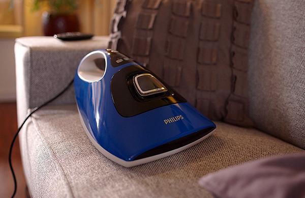 مكنسة كهربائية خاصة من Philips لإزالة فعالة من عث الغبار من المراتب والوسائد والسجاد.