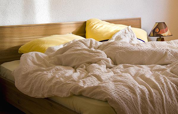 تتفاقم أعراض الحساسية التي تحملها القراد عندما يكون الشخص في المنزل - على سبيل المثال ، عندما يستريح على سرير موبوء بالقراد.